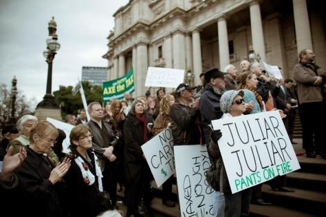 'Carbon tax' protest 2011 (Image: mugfaker)