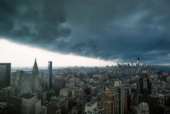 Extreme Storm Manhattan, NYCSept 8th, 2012 which resulted in two tornados on the edge of NYC. (http://www.flickr.com/photos/redpilotmedia/7974214666/sizes/o/in/photostream/)