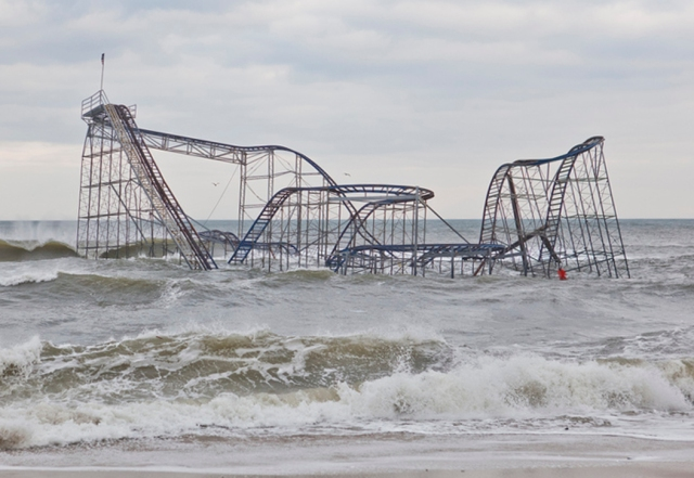 Superstorm Sandy damage in Seaside Heights New Jersey (Image: Anthony Quintano)